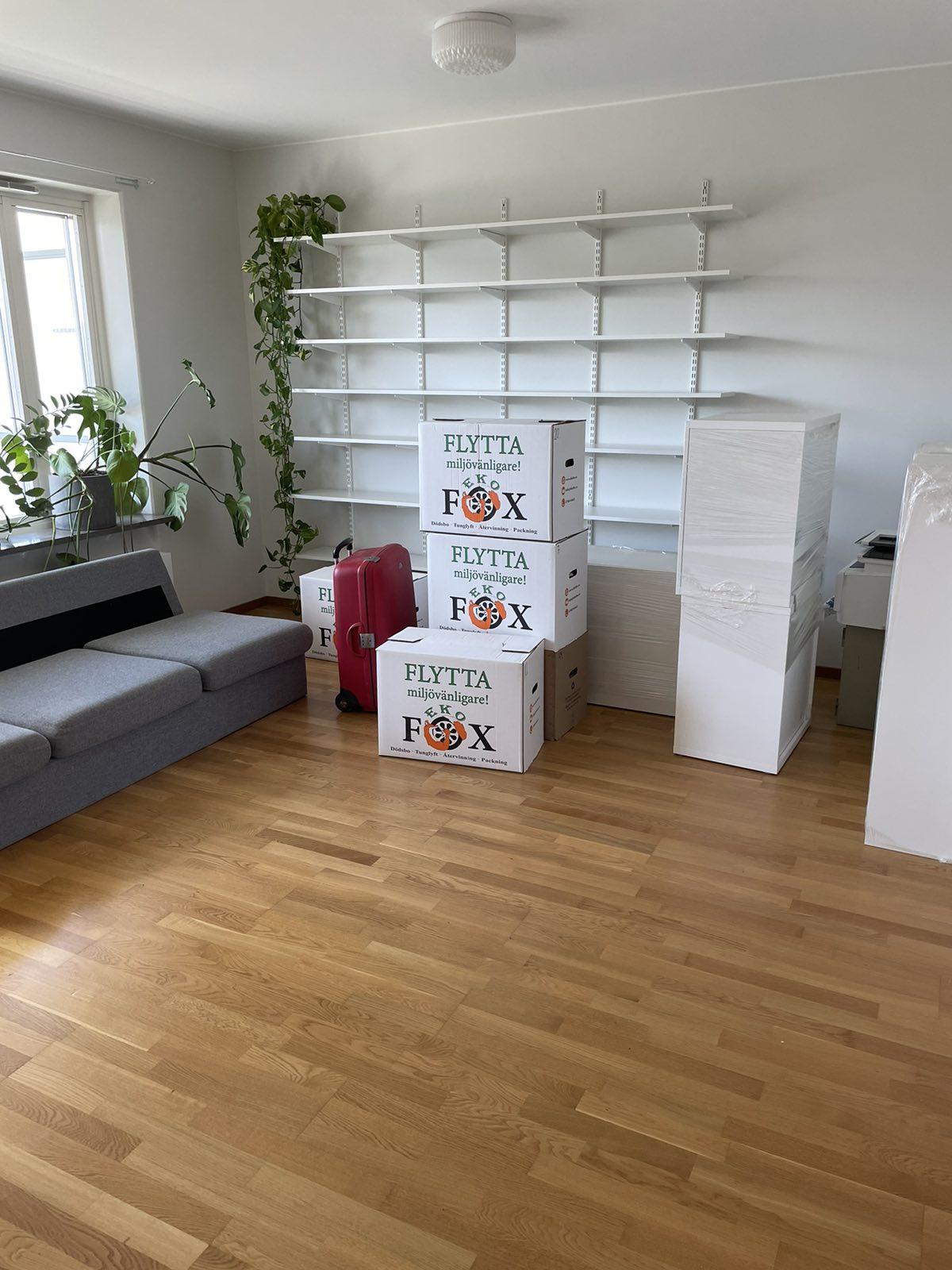 Flyttfirma Ekofox i Stockholm - Flyttkartonger
